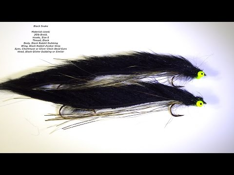 Tying a Snake Fly (Lure) with Davie McPhail