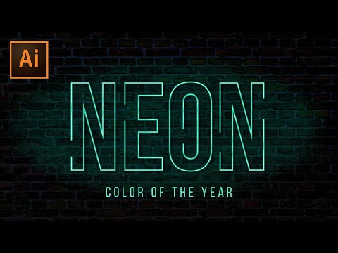 Neon Text Effect Illustrator Tutorial | Color of the Year thumbnail