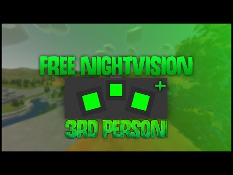 HOW TO GET FREE NIGHT VISION IN UNTURNED! -  Night vision in 3rd person
