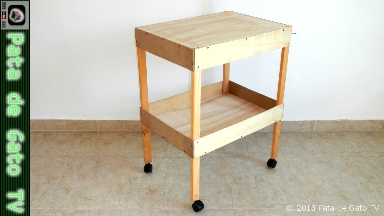Como Hacer Mesa De Trabajo De Madera Mesa De Trabajo Con Ruedas Work Table With Wheels