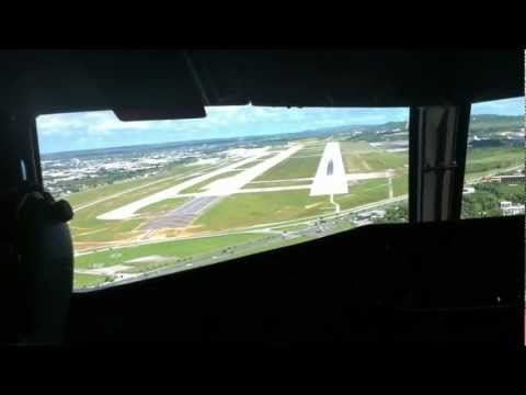 Cape Air ATR 42 landing at Guam International