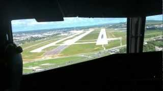 Cape Air ATR 42 landing at Guam International
