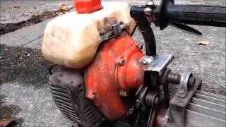 草刈り機のエンジンで高圧洗浄機  自作