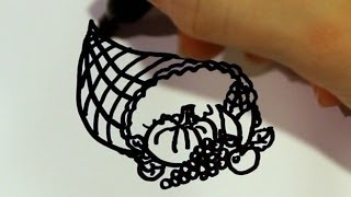 How to Draw a Cartoon Cornucopia