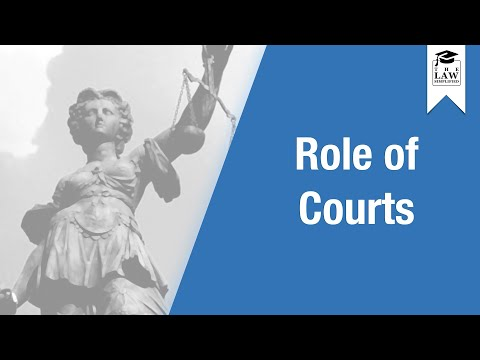 English Legal System - Role of Courts