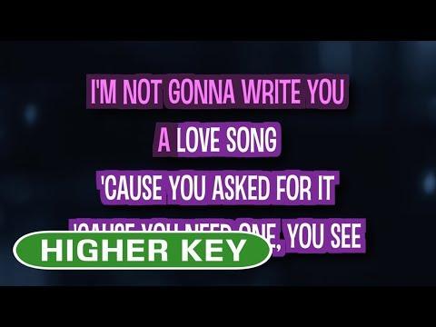 Love Song (Karaoke Higher Key) - Sara Bareilles