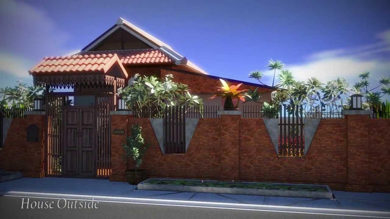 Modern Thai House Fly Through By Nattakorn Wongsathitdee