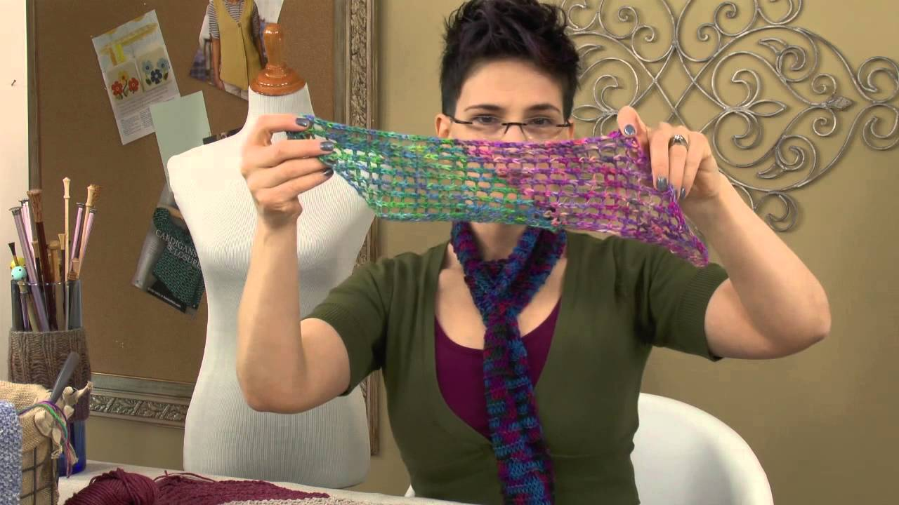 Knit Stitch Pattern Tutorial -- Experiment With Yarn Weights ...