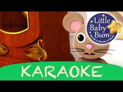 Hickory Dickory Dock | Karaoke Version With Lyrics HD from LittleBabyBum!