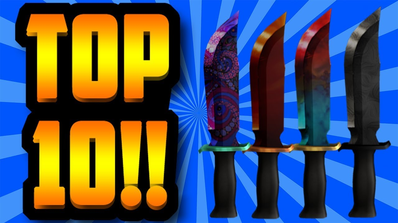 Top 10 Worst Knives Of All Time Roblox Assassin Youtube