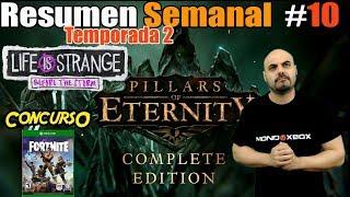 Weekly Summary T2-10 Fortnite Contest, win a free copy, Pillars of eternity MondoXbox