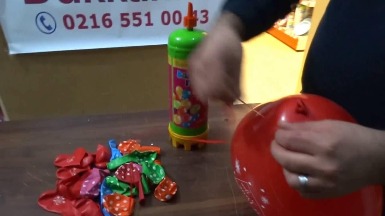 Helyum Tüpü Helyum Gazı Uçan Balon Tüpü Tek Kullanımlık Helyum