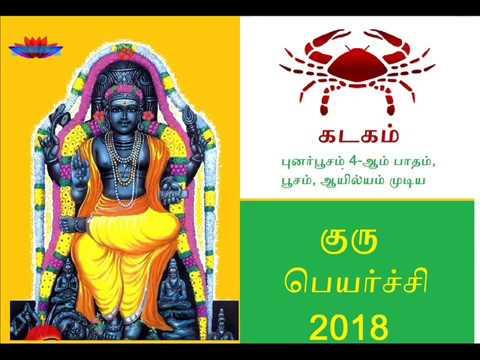 Guru peyarchi palangal 2017-2018 : Kadaga Rasi : குரு பெயர்ச்சி பலன்கள்   2017-2018 :  கடக ராசி