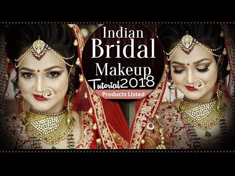 Indian Bridal Makeup Tutorial | Traditional Bridal Makeup with Glittery Eyes | Krushhh By Konica
