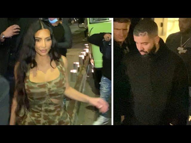 Kim Kardashian And Drake Fuel Romance Rumors At Kendall Jenner's Tequila  Bash - YouTube