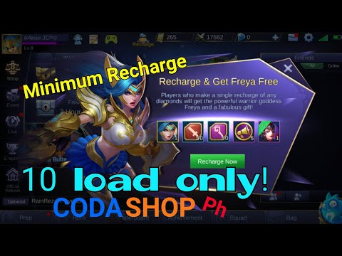 How to recharge and get freya for 10 load | Mobile Legends (For Android & iOS account)
