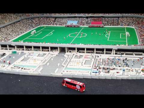Allianz Arena SPETTACOLARE!!!! Completamente di LEGO a LEGOLAND di Monaco!!!!