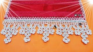 Barradinhos pequenos em crochê com fios de seda
