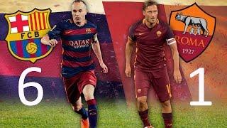 Barcelona vs roma 6:1 all goals ...