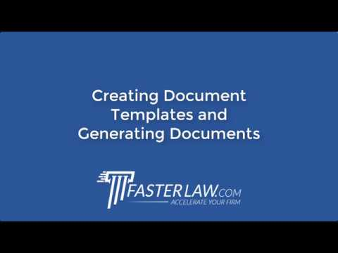 Creating Document Templates and Generating Documents