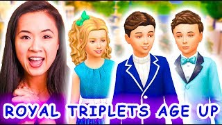 WILLOW CREEK ROYAL TRIPLETS BECOME CHILDREN | The Sims 4: The Royal Family | Part 48