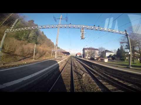Cab Ride RE 4910 from Zürich HB to Schaffhausen