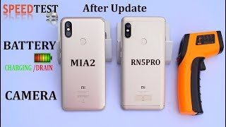 MI A2 vs Redmi Note 5 pro - #Speed#gaming#battery#camera#after update