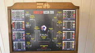 Kunden Wandtafel mit WM Spielplan Russia 2018