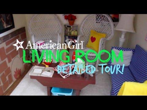 Detailed American Girl Doll Living Room Tour Youtube