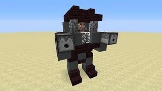 How to build a moving robot in minecraft (2016)