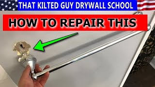 How to repair a TOWEL BAR Ripped out of the Drywall