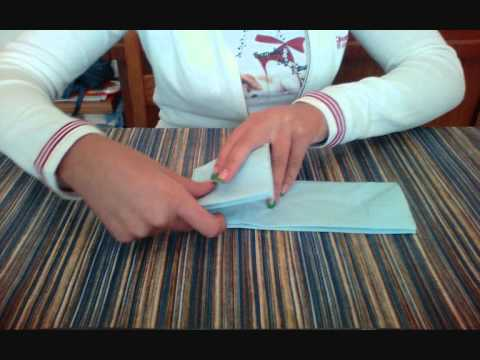 Piegare Asciugamani Forme : Piegare tovaglioli di carta farfalla youtube