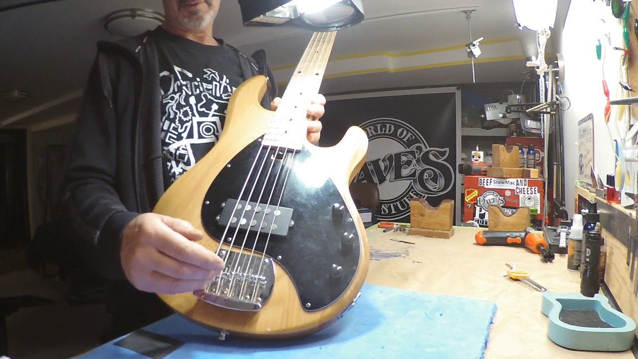 olp 5 string bass guitar gets repaired youtube. Black Bedroom Furniture Sets. Home Design Ideas