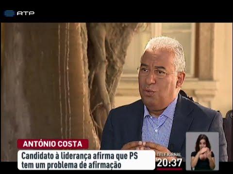 Entrevista completa de António Costa à RTP
