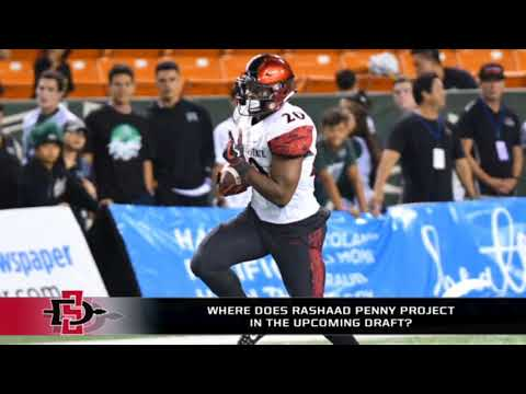 Where does Rashaad Penny project in the upcoming draft?