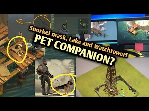 Last Day On Earth Pet Companion, Lake, River And Watchtower + Crafting Gunsmith Bench