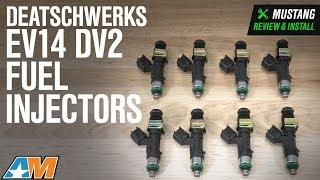2005-2017 Mustang Cobra DeatschWerks EV14 DV2 Fuel Injectors - 95 lb Review & Install