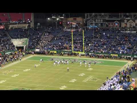 Music City Bowl 2017! UK Wildcats going for 2-point conversion to win but failed.