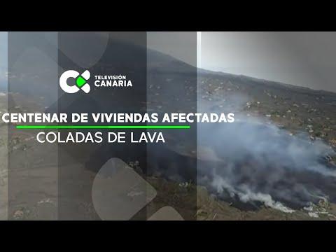 Las coladas de lava afectan a aun centenar de viviendas y continúan avanzando hacia el mar