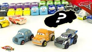 Disney Cars Mini Racers 3 Voitures Mini Véhicule Wave 3 Surprise Jouet Toy Review McQueen Storm