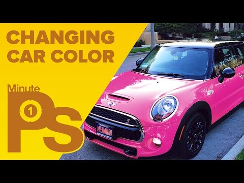 How To Change Car Color In Photoshop #MinutePhotoshop
