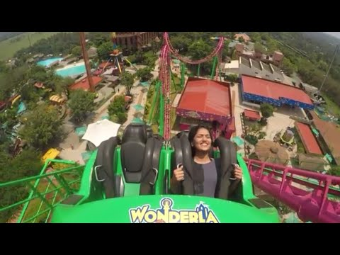 saniya Iyyappan  at Recoil Roller Coaster at wonderla Kochi
