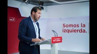 Rueda de prensa de Óscar Puente en Ferraz