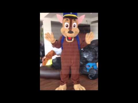 PAW PATROL MASCOT COSTUME CHARACTER ADULT SIZE CHASE MARSHALL RUBBLE