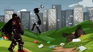 Ninja vs Dämon. Kämpfen video. Zeichnen, Comic-2. cm Alif.