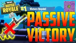 THE MOST PASSIVE VICTORY EVER! (Fortnite Battle Royale)