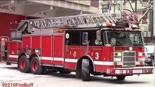 Chicago Fire Dept. Truck 3 & Ambulance 42 (spare) Responding
