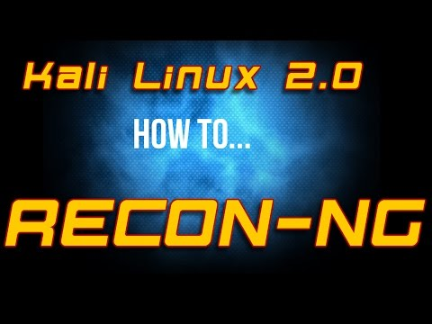 How To - Kali Linux 2.0 - Recon-ng