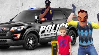 Привет Сосед и Захар троллят Полицейского Hello Neighbor
