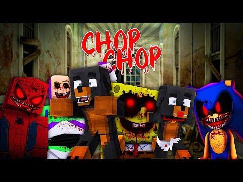 Minecraft CHOP CHOP - SPONGEBOB, SONIC & SPIDERMAN .EXE THE RETURN - Custom Modded Facecam Gameplay